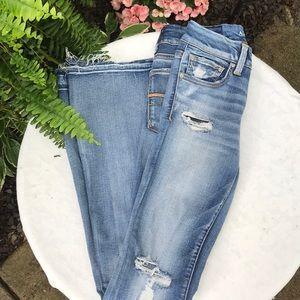 American Eagle Boho Artist Flare Distressed Jeans